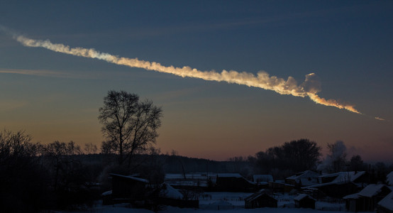 The Chelyabinsk meteor 0 Source: Alex Alishevskikh, Wikimedia Commons.